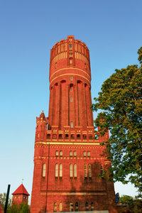 Premium Textil-Leinwand 60 cm x 90 cm hoch Wasserturm