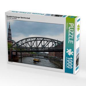 Wandbild Hamburger Speicherstadt 1000 Teile Puzzle quer