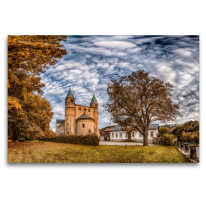 Premium Textil-Leinwand 120 cm x 80 cm quer Stiftskirche St. Cyr