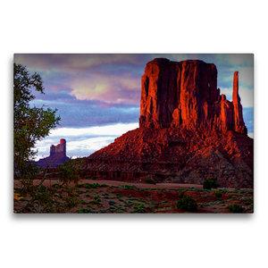 Premium Textil-Leinwand 75 cm x 50 cm quer Monument Valley