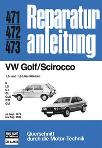 VW Golf/Scirocco 1.5 + 1.6 ab 09/79 bis 08/80