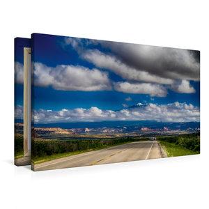 Premium Textil-Leinwand 90 cm x 60 cm quer Auf der State Route 1