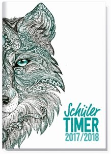 """Schulstuff Schülertimer A5 2017/2018 \""""Wolf\"""""""