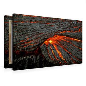 Premium Textil-Leinwand 75 cm x 50 cm quer Strick-Lava