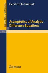 Asymptotics of Analytic Difference Equations