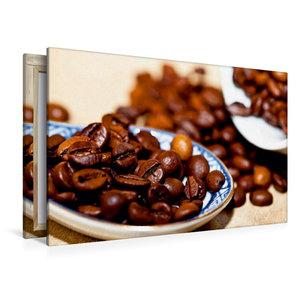 Premium Textil-Leinwand 120 cm x 80 cm quer Kaffeebohnen