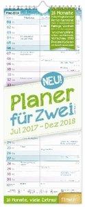 Planer für Zwei 18 Monate 2017/2018 Wandkalender