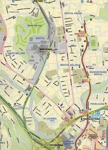 Kuala Lumpur. Malaysia Stadtplan. 1 : 10 000
