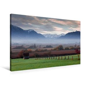 Premium Textil-Leinwand 90 cm x 60 cm quer Murnauer Moos