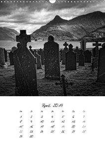 Schottland Monochrom (Wandkalender 2019 DIN A3 hoch)