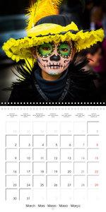 Dia de muertos (Wall Calendar 2020 300 × 300 mm Square)