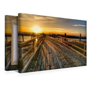 Premium Textil-Leinwand 45 cm x 30 cm quer Anleger