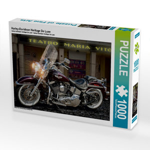 Harley-Davidson Heritage De Luxe 1000 Teile Puzzle quer