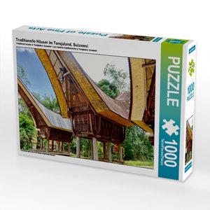 Traditionelle Häuser im Torojaland, Sulawesi 1000 Teile Puzzle q