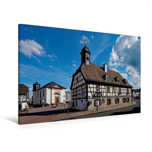 Premium Textil-Leinwand 120 cm x 80 cm quer Altes Rathaus Kelkhe