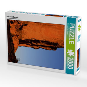 Red Rock Sunset 2000 Teile Puzzle hoch