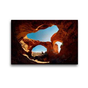 Premium Textil-Leinwand 45 cm x 30 cm quer Double Arch, Arches N