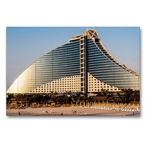 Premium Textil-Leinwand 90 cm x 60 cm quer Jumeirah Beach Hotel
