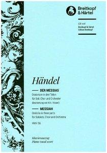 Der Messias HWV 56, Klavierauszug