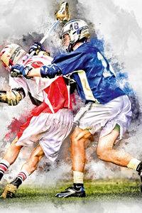 Premium Textil-Leinwand 60 cm x 90 cm hoch Lacrosse