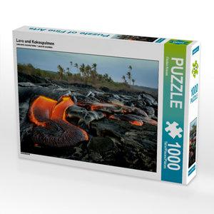 Lava und Kokospalmen 1000 Teile Puzzle quer