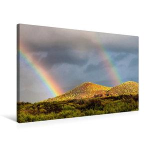 Premium Textil-Leinwand 75 cm x 50 cm quer Regenbogen wunder auf