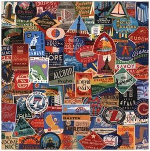 Vintage Travel Luggage Labels (Puzzle)