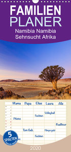 Namibia - Sehnsucht Afrika - Familienplaner hoch (Wandkalender 2