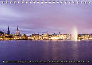 Hamburg - Alster (Tischkalender 2019 DIN A5 quer)