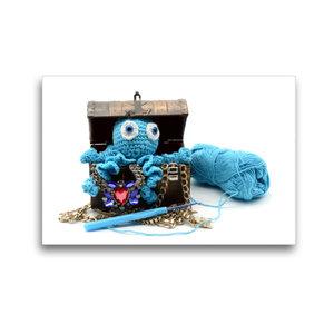 Premium Textil-Leinwand 45 cm x 30 cm quer Gehäkelte Krake in de