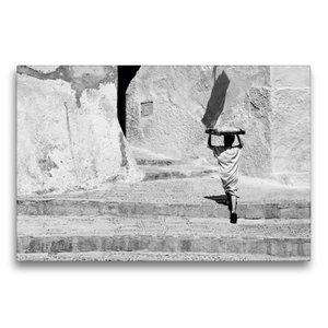 Premium Textil-Leinwand 75 cm x 50 cm quer Bäckerjunge in Marokk