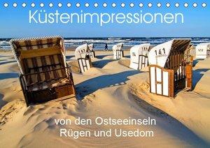 Küstenimpressionen von den Ostseeinseln Rügen und Usedom (Tischk