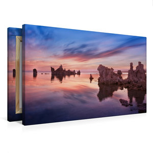 Premium Textil-Leinwand 75 cm x 50 cm quer mono lake - californi
