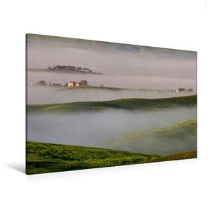 Premium Textil-Leinwand 120 cm x 80 cm quer Inseln im Nebel