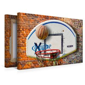 Premium Textil-Leinwand 45 cm x 30 cm quer Basketball - so cool