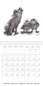 owls and mates 2018 (Wall Calendar 2018 300 × 300 mm Square)