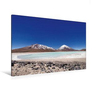 Premium Textil-Leinwand 120 cm x 80 cm quer Laguna verde mit Lic