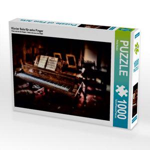 Klavier Solo für zehn Finger 1000 Teile Puzzle quer