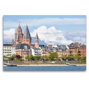 Premium Textil-Leinwand 120 cm x 80 cm quer Mainz am Rhein