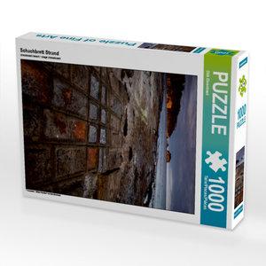 Schachbrett Strand 1000 Teile Puzzle hoch