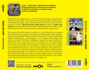Leben des Galilei, 3 CDs, komplett gespielt im Original, mit zus