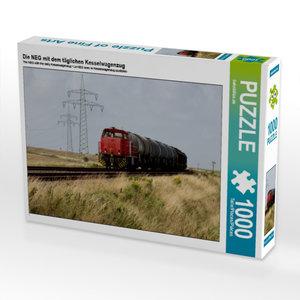 Die NEG mit dem täglichen Kesselwagenzug 1000 Teile Puzzle quer