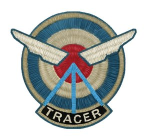 Overwatch - Aufnäher / Shoulder-Badge Tracer