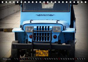 Auto-Legenden: WILLYS (Tischkalender 2019 DIN A5 quer)