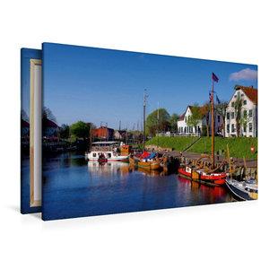 Premium Textil-Leinwand 120 cm x 80 cm quer Museumshafen Carolin