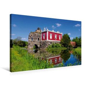 Premium Textil-Leinwand 75 cm x 50 cm quer Villa Hamilton