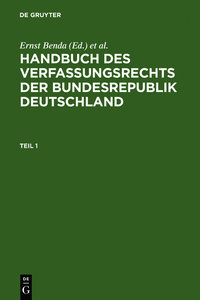 Handbuch des Verfassungsrechts der Bundesrepublik Deutschland