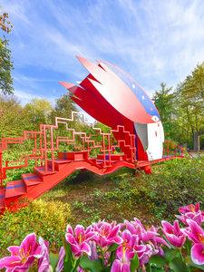 CALVENDO Puzzle Leuchtendes Farbenmeer im Maximilianpark, Hamm 1