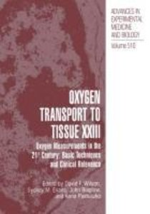 Oxygen Transport To Tissue XXIII