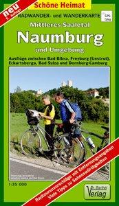Naumburg, Mittleres Saaletal und Umgebung 1 : 35 000. Radwander